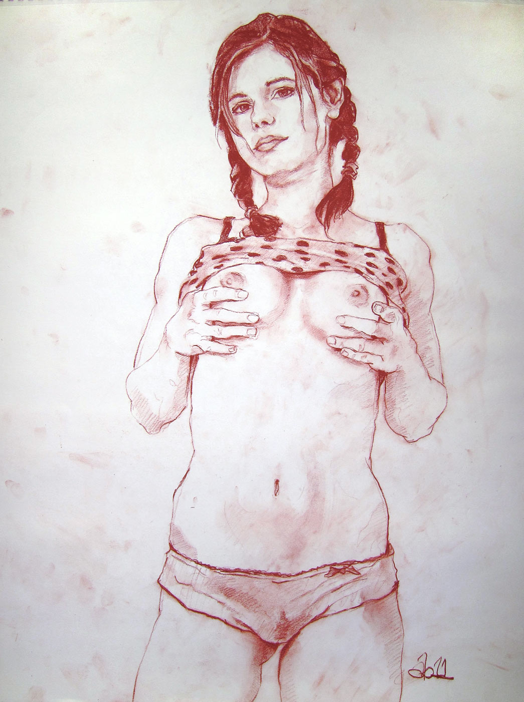 Sketch drawings of nude girls fucking with  adult photo